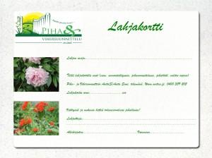 Lahjakortti - Piha- ja Vihersuunnittelu AnitaS