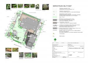 Omakotalo metsän reunassa, pihasuunnitelma,  Piha- ja Vihersuunnittelu AnitaS